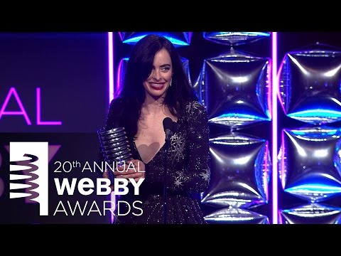 Krysten Ritter's 5-Word Speech at the 20th Annual Webby Awards