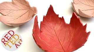 Leaf Bowl DIY - Easy Fall Crafts - Air Drying Clay How To