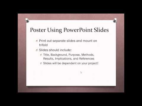 how to create a research poster video presentation