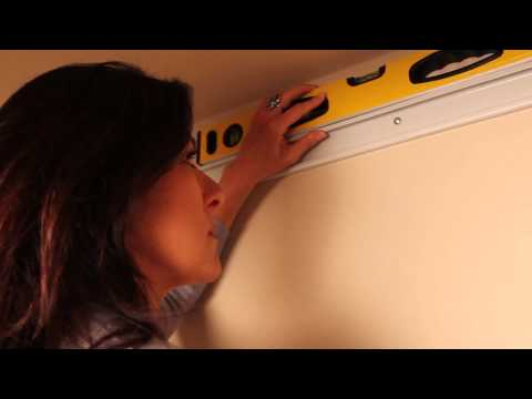 Installing ClosetMaid's ShelfTrack Wire Shelving