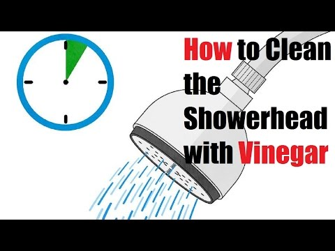 How to Clean the Showerhead with Vinegar