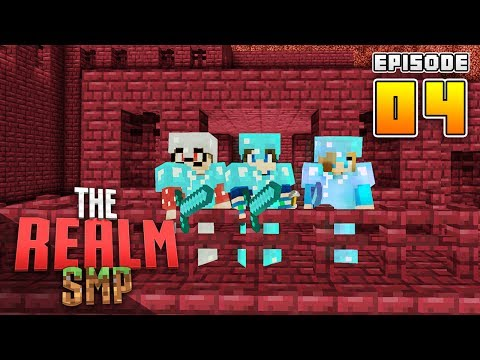 WE FOUND 2 NETHER FORTRESSES!! RealmSMP Ep.4 Minecraft PE (Survival Let's Play Multiplayer)