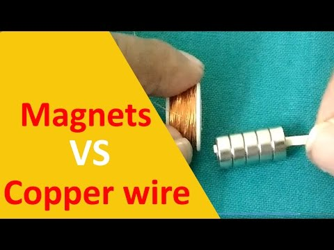 Magnets vs Copper Wire - Reaction