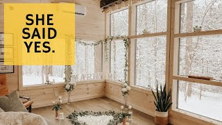 I built stairs so she could get married - Cabin Build Ep.51
