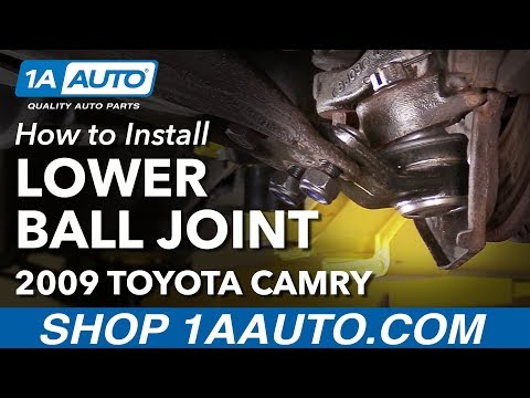 How to Install Replace Front Lower Ball Joints 2007-11 Toyota Camry