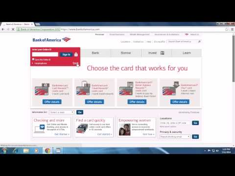 Bank Of America Sign Up and Registration   Create New Bank of America Account 2014