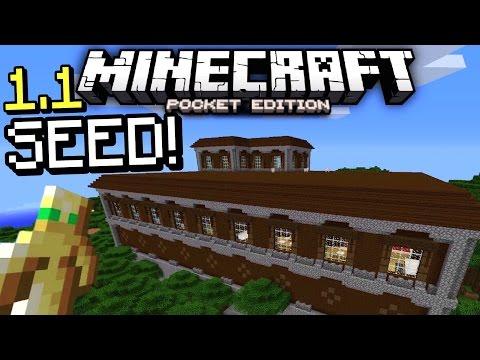 MCPE 1.1 Woodland Mansion seed! (Minecraft PE 1.1 Woodland Mansion seed gameplay!)