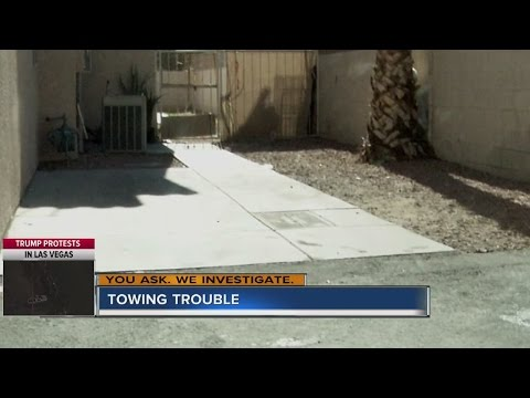 Woman says family car was towed from driveway