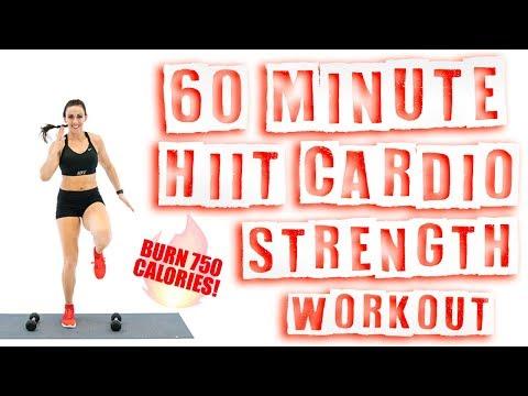 60 Minute HIIT Cardio Strength Workout 🔥Burn 750 Calories! 🔥
