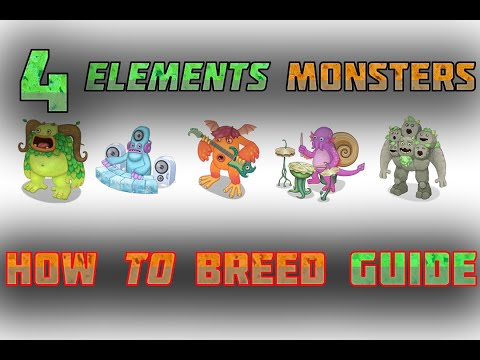 My Singing Monsters HowToBreed ALL 4 ELEMENTS MONSTERS 100% TRUE :D
