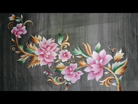 Fabric Painting Corner Professional Design | Latest 2018 Designs | Learn Fabric Painting