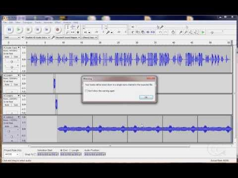 How to make a narration podcast with Audacity