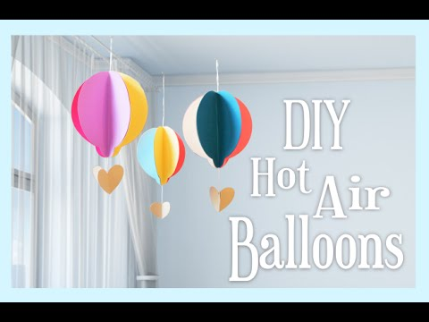 DIY Paper Hot Air Balloon Craft