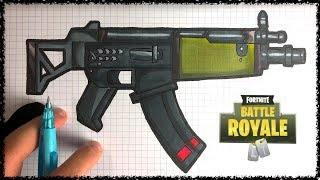 Comment Dessiner Le Pistolet Mitrailleur Fortnite