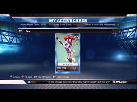 BHack3tt Giving away 99 Jerry Rice EA Sports Madden NFL 13 Ultimate Team MUT Giveaway