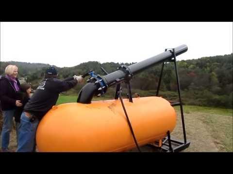 Pumpkin Chunkin with the Carroll County VA Pumpkin Cannon