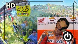 Detik detik Marquez di ejek Fans Rossi di Podium Misano 2017