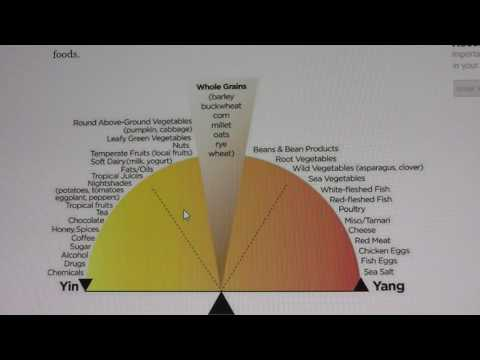Yin and Yang Chart Showing Specific Food Types