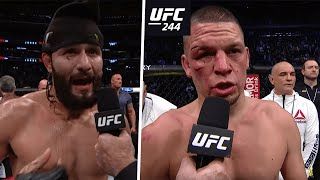 """I didn't baptise Nate, run it back!"" Jorge Masvidal and Nate Diaz UFC 244 post-fight interviews"