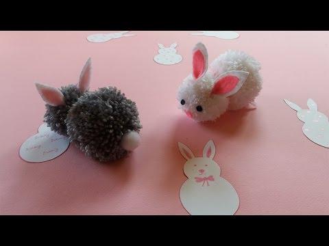 How To Make Pom Pom Bunny