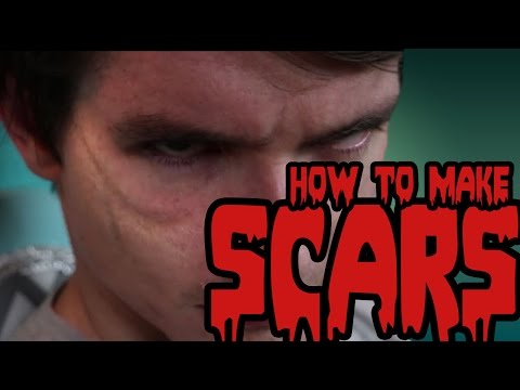 DIY Halloween Makeup Tutorial - How to Make Zombie Scars - Cosplay Class with Holly and Ross