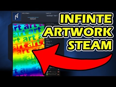 INFINITE ARTWORK STEAM (EXTENDED ART) WORKING GLITCH - NO ADS, FREE, LEGAL!!