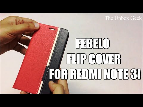 Febelo Flip Cover for Redmi Note 3 Unboxing & Overview (INDIA)