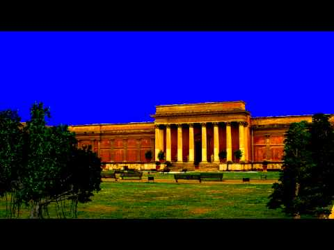 ROYALTY FREE ANCIENT BUILDING HIGH RES QUALITY REALISTIC BLUE GREENSCREEN CHROMA KEY BACKGROUND