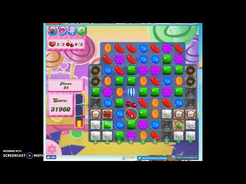 Candy Crush Level 187 Audio Talkthrough, 2 Stars 0 Boosters