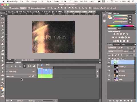 Photoshop cs6 tutorial (part 3)- change the speed