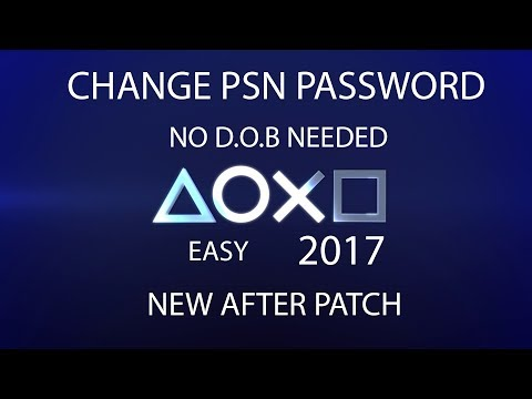 ##*&^^ PATCHED *&^##EASIEST way! how to CHANGE PSN password without D.O.B