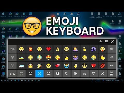 [PC] Windows 10 Emoji Keyboard 😀🤣😍🤓👸🍗🚑💘