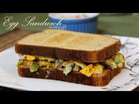 Egg Recipes - Egg Cheese Sandwich Recipe - Indian Breakfast Recipe - Healthy Recipe