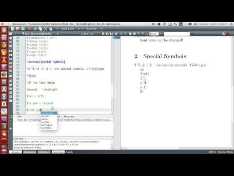 LaTeX Programming : 021 : Special Symbols Part 1 of 2