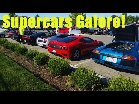Supercars ,Muscle Cars, Burnouts, Skids and Fails: Cars and Coffee Boise