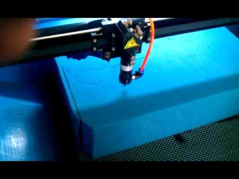 EVA  Sponge  foam rubber  plastic laser cutting  processing machine
