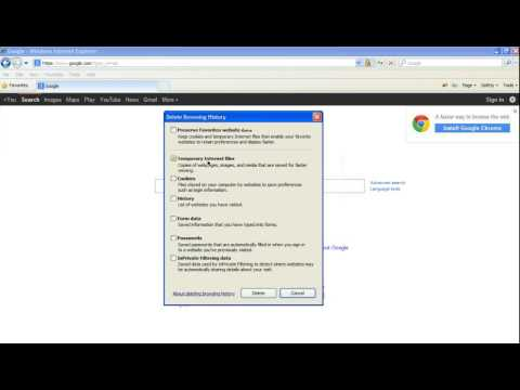 How to Clear Your Cache in Internet Explorer 8