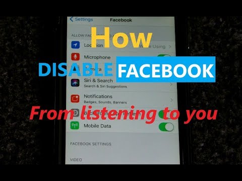 Android: Facebook listening to your conversations - How to disable the microphone