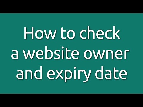 How to check website owner details and expiry date