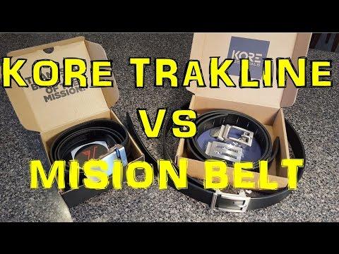 Kore Essential Trakline Ratchet Belt Vs Mission Belt
