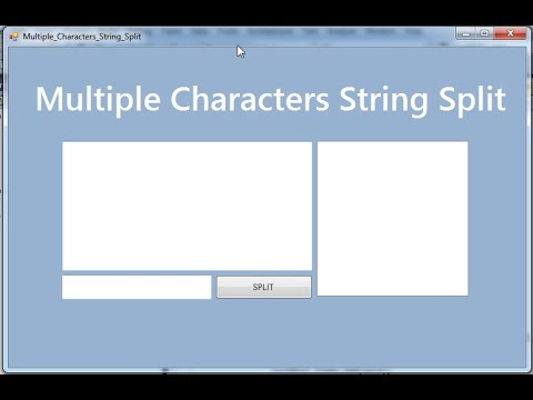 How to Split String using Multi Char String in C# with regex Method