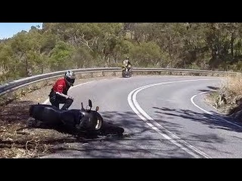 Learner Crashes Motorcycle - Gorge Road, SA