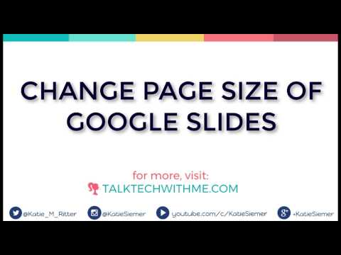 Change the Page Size of Google Slides