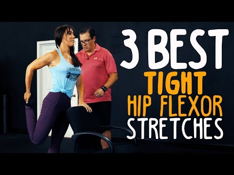 3 Best TIGHT Hip Flexor Stretches (Releases Hips!)