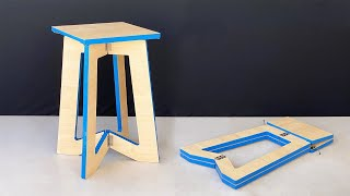 How to Make a Unique Foldable Stool at Home