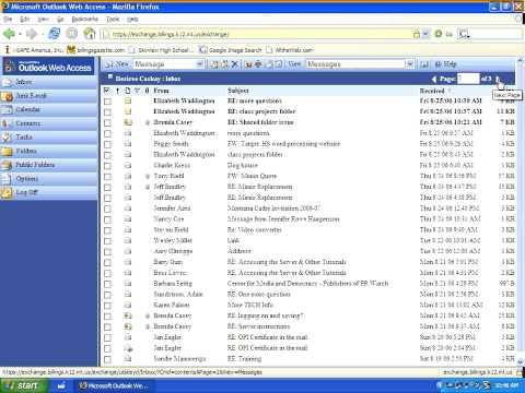 Tutorial: The Outlook Web Access Environment