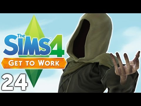 Let's Play The Sims 4 Get to Work - Part 24 - Grim Reaper!
