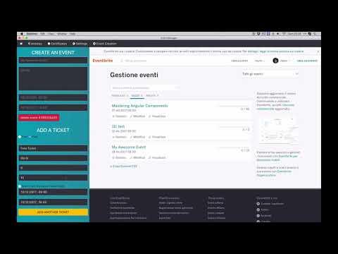 Event Manager - Quick creation of EventBrite Events - Angular 5 / Electron - MVP v 0.1.0
