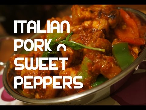 Italian style Pork & Sweet Peppers Recipe - Video Stew