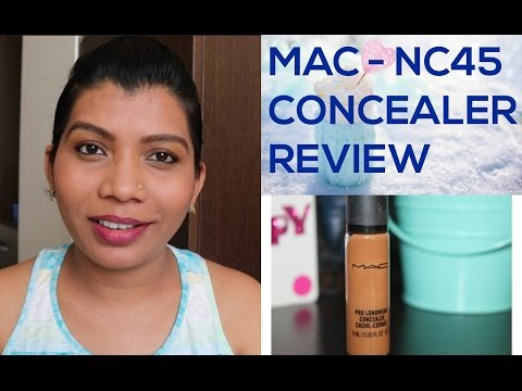 MAC NC45 Concealer Review | Mac concealer Review and demo